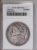 1893-S $1 --Damaged--ANACS. VF20 Details. NGC Census: (384/1285). PCGS Population (204/1563). Mintage: 100,000. Numismed...
