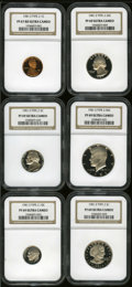 Certified Modern Proof Sets: , 1981-S Cent Type Two PR 67 Deep Cameo NGC; 1981-S Nickel Type Two PR 69 Deep Cameo NGC; 1981-S Dime Type Two PR 69 Deep Cameo NG... (Total: 6 Coins)