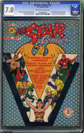 Golden Age (1938-1955):Superhero, All Star Comics #12 (DC, 1942) CGC FN/VF 7.0 Off-white to white pages. In this issue, Wonder Woman was appointed the officia...