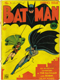 Golden Age (1938-1955):Superhero, Batman #1 (DC, 1940) Condition: PR. One of the delights of this original-owner collection is that the Batman run starts ...