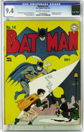 Golden Age (1938-1955):Superhero, Batman #14 (DC, 1943) CGC NM 9.4 Off-white to white pages. No copy of this issue has been graded higher by CGC to date, so h...