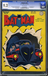 Batman #20 (DC, 1943) CGC NM- 9.2 Off-white pages. We haven't seen a copy to match this one, and neither has CGC as of t...