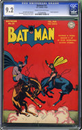 """Golden Age (1938-1955):Superhero, Batman #21 (DC, 1944) CGC NM- 9.2 Cream to off-white pages. Here's yet another """"highest-graded"""" copy in this amazing Batma..."""
