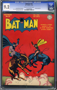 """Batman #21 (DC, 1944) CGC NM- 9.2 Cream to off-white pages. Here's yet another """"highest-graded"""" copy in this a..."""