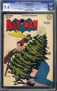 Batman #33 Double Cover (DC, 1946) CGC NM 9.4 Off-white to white pages. It'll be Christmas in May for this lot's winning...