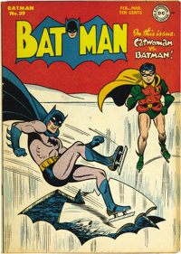 Batman #39 (DC, 1947) Condition: VF-. Catwoman stories were always fun because there was so much electricity between her...