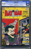 Golden Age (1938-1955):Superhero, Batman #55 (DC, 1949) CGC VF 8.0 Off-white to white pages. Yikes, Jokers in every single state of the USA (all 48 of 'em...