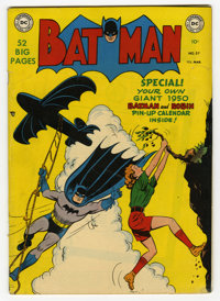 Batman #57 (DC, 1950) Condition: VG/FN. Joker story. Win Mortimer cover. Bob Kane and Dick Sprang art. This copy could n...
