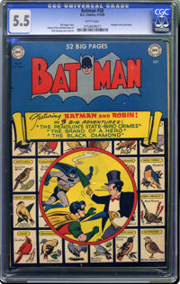 Batman #58 (DC, 1950) CGC FN- 5.5 White pages. Penguin cover and story. Cover and interior art by Dick Sprang. Overstree...