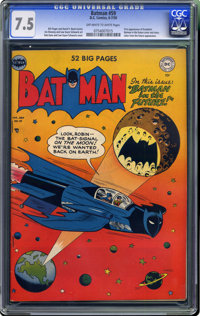 Batman #59 (DC, 1950) CGC VF- 7.5 Off-white to white pages. Here's an issue worth investing in: the first appearance of...