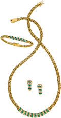 Estate Jewelry:Suites, Jeff Cooper Emerald, Diamond, Gold Jewelry. ... (Total: 3 Items)