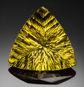 Gems:Faceted, FINE FANCY-CUT GEMSTONE: CITRINE - 39.06 CT.. Brazil. ...