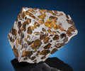 Meteorites:Palasites, END PIECE OF THE FUKANG PALLASITE. Pallasite, PMG.Fukang, Xinjiang Uygur Province, China (44° 26'N, 87° 38'E).Fo...