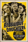 """Movie Posters:Exploitation, Rebellious Daughters (Progressive Pictures, 1938). One Sheet (27"""" X 41""""). Exploitation.. ..."""
