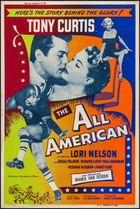 """The All American (Universal International, 1953). Silk Screen Posters (2) (40"""" X 60""""). Sports. ... (Total: 2 I..."""
