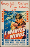 """Movie Posters:War, I Wanted Wings (Paramount, 1941). Window Card (14"""" X 22""""). War....."""