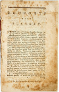 Books:Americana & American History, [Abolition]. [John Wesley]. Thoughts upon Slavery. [N.p.,n.d., ca. 1774]. Probably the second edition. No title pag...