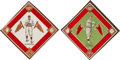 Baseball Cards:Lots, 1914 B18 Baseball Blankets HoFers Pair (2). ...