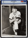 Baseball Collectibles:Photos, 1952 Mickey Mantle Type I News Photograph By Don Wingfield....