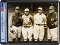Baseball Collectibles:Photos, 1928 Babe Ruth, Lou Gehrig, Ty Cobb & Tris Speaker Type I NewsPhotograph....