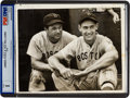 Baseball Collectibles:Photos, 1939 Ted Williams & Jimmie Foxx Type I News Photograph....