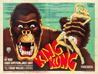 "King Kong (RKO, 1933). French Four Panel (124"" X 93"")"