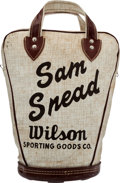 Golf Collectibles:Miscellaneous, Vintage Shag Bag and Gloves From The Sam Snead Collection....