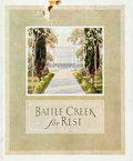 Miscellaneous:Brochures, Promotional Brochure for The Battle Creek Sanitarium. Battle Creek:Shaw Printing, [n.d., ca. 1920s]. Publisher's printed wr...