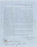 Autographs:Military Figures, Jefferson Davis West Point Appointment Signed with Related Military Documents.... (Total: 8 Items)