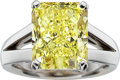 Estate Jewelry:Rings, Fancy Yellow Diamond, White Gold Ring. ...