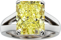 Fancy Yellow Diamond, White Gold Ring