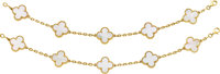 Van Cleef & Arpels Mother-of-Pearl, Gold Bracelets