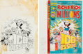 Original Comic Art:Covers, Richie Rich Millions #100 Cover and Color Guide Original Art(Harvey, 1980).... (Total: 2 Original Art)