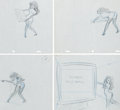 Animation Art:Production Drawing, Playboy's Femlin Girl Production Drawing Animation Art Group(Playboy Studios, 1980-90s).... (Total: 4 Original Art)