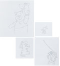 Animation Art:Production Drawing, Winnie the Pooh, Piglet, Eeyore, and Tigger TV CommercialProduction Drawing Animation Art Group (c. 1990s).... (Total: 4Original Art)