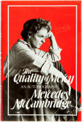 Books:Biography & Memoir, Mercedes McCambridge. The Quality of Mercy. [New York:]Times Books, [1981]. First edition. Publisher's cloth bindin...