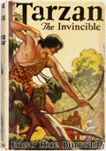 Books:Science Fiction & Fantasy, Edgar Rice Burroughs. Tarzan the Invincible. London: John Lane the Bodley Head, [1935]. First British edition. Publi...