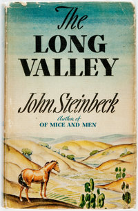 John Steinbeck. The Long Valley. New York: Viking Press, 1938. First edition. Publisher's cloth