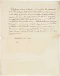 Autographs:U.S. Presidents, Thomas Jefferson Autograph Letter Signed and Free FrankSignature....
