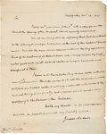 Autographs:U.S. Presidents, James Madison Autograph Letter Signed and Free Frank Signature....