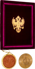 Autographs:Non-American, Emperor Franz Joseph I of Austria Grant of Arms and NobilitySigned....