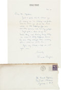 Autographs:U.S. Presidents, Ronald Reagan Autograph Letter Signed....