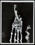 Basketball Collectibles:Others, Wilt Chamberlain, And Harlem Globetrotters Wire Photos Lot Of 7....