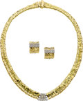 Estate Jewelry:Suites, Orlandini Diamond, Gold Jewelry. ... (Total: 2 Items)