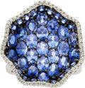 Estate Jewelry:Rings, Piranesi Sapphire, Diamond, White Gold Ring. ...