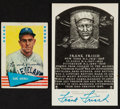 Autographs:Post Cards, Frank Frisch And Earl Averill Signed Post Card And Card....