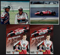 Autographs:Others, Racing Legends Signed Photographs Lot Of 4....
