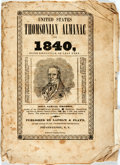 Books:Americana & American History, [Almanac]. Samuel Thomson. United States Thomsonian Almanac for1840, Being Bissextile or Leap Year. Poughkeepsie: L...