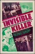 """Movie Posters:Mystery, The Invisible Killer (PRC, 1940). One Sheet (27"""" X 41""""). Mystery....."""