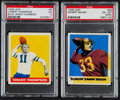 Football Cards:Lots, 1948 Leaf Football PSA Graded Pair (2) With Baugh Rookie. ...